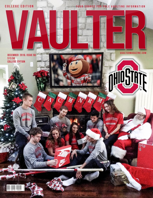 "12"" x 18"" Ohio State University Cover of Vaulter Magazine December 2016"