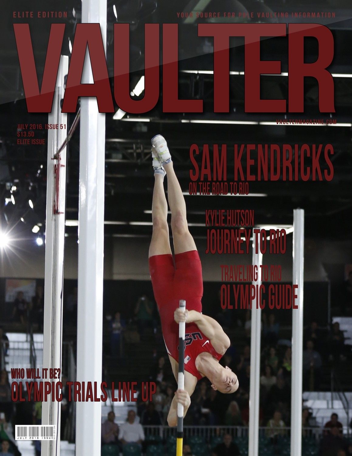 "12"" x 18"" Sam Kendricks Cover of Vaulter Magazine July 2016"