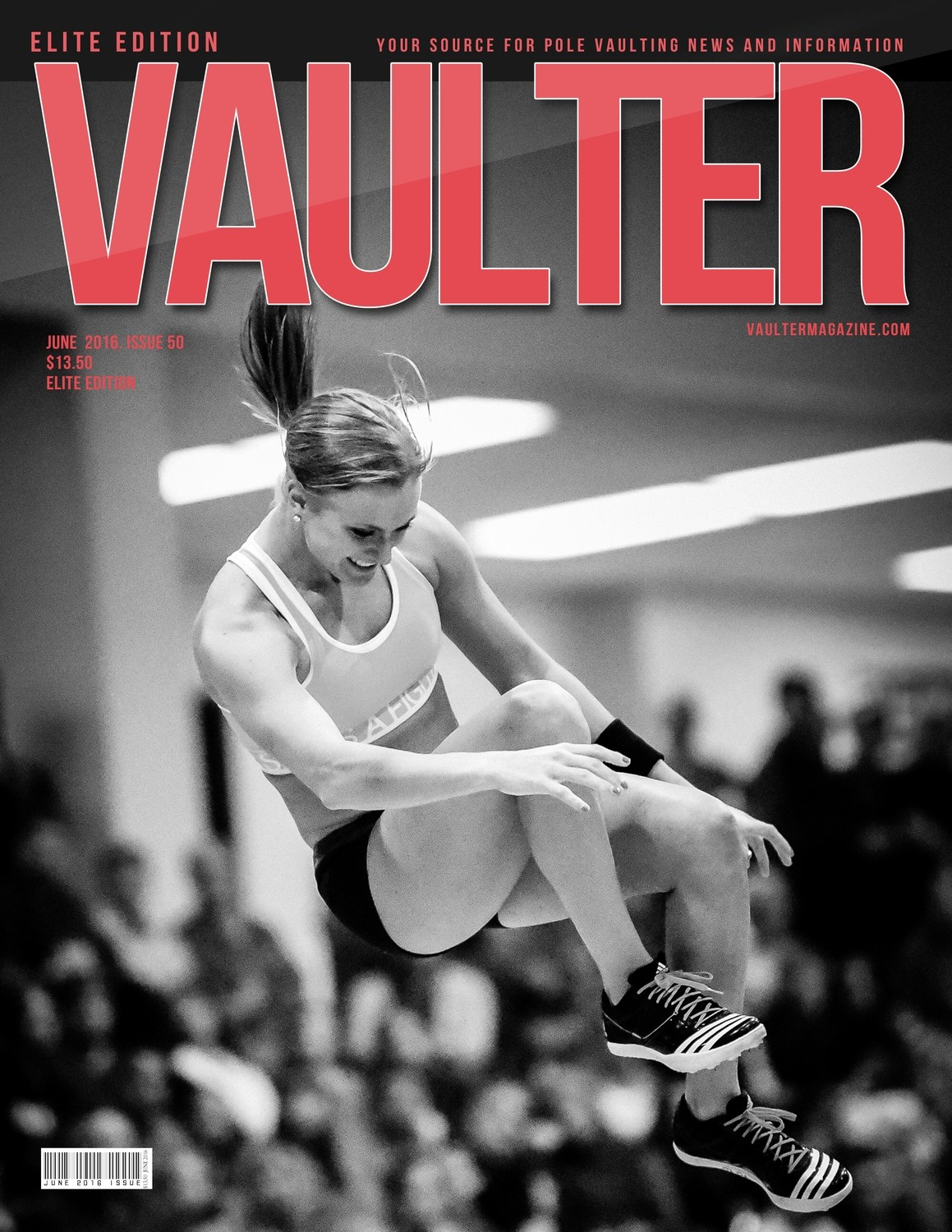"12"" x 18"" Katie Nageotte Cover of Vaulter Magazine June 2016"