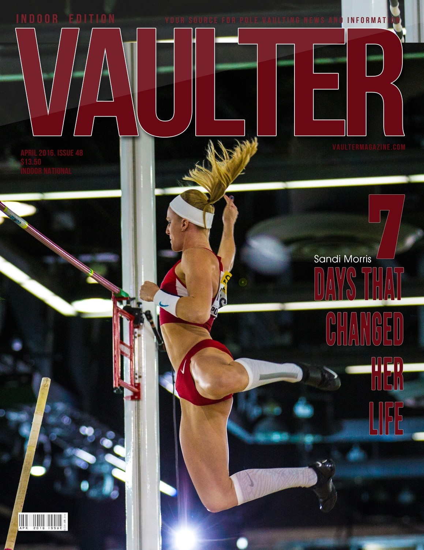 "12"" x 18"" Sandi Morris Vaulter Magazine Cover April 2016"