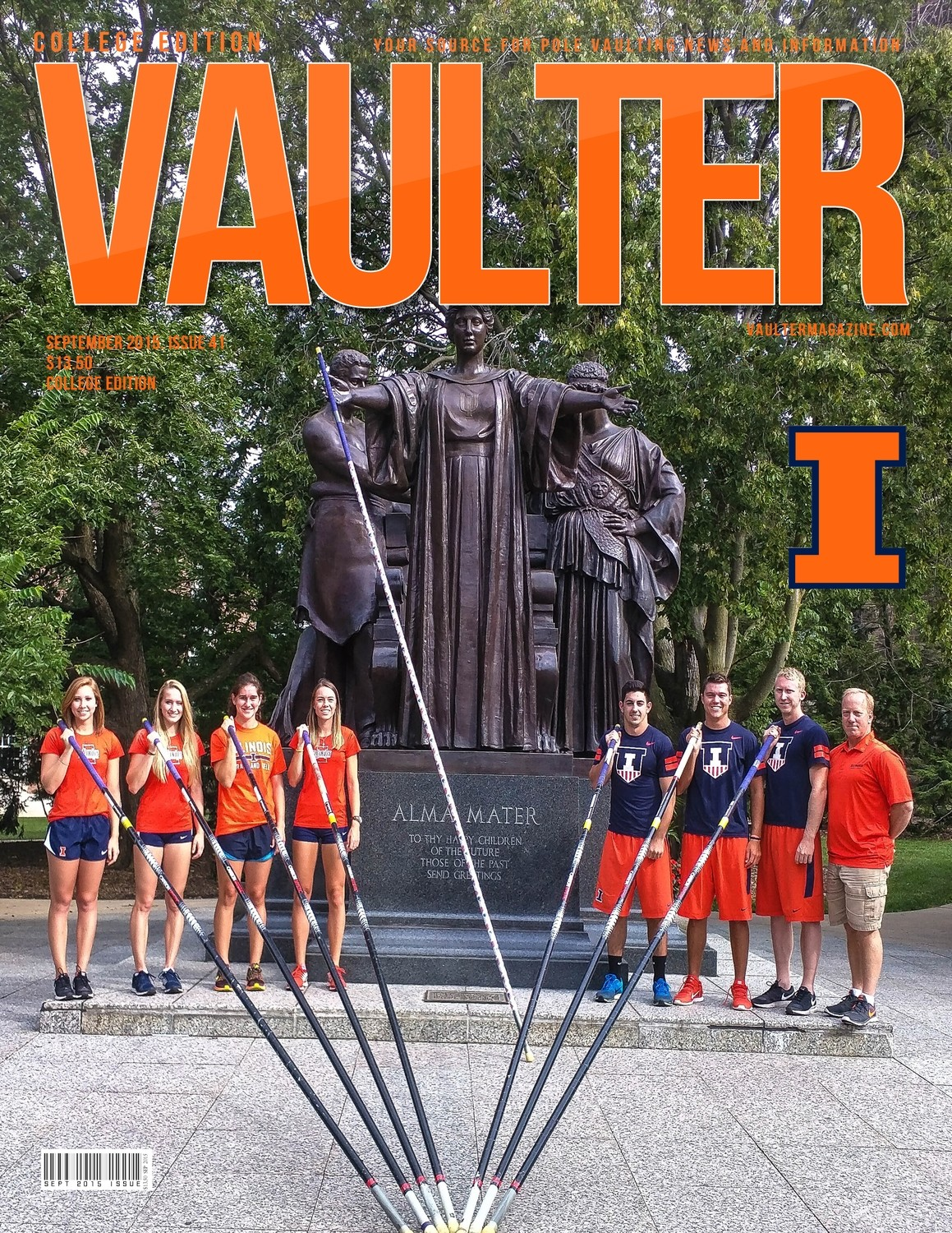 "12"" x 18"" September 2015 University of Illinois Cover Poster of VAULTER"