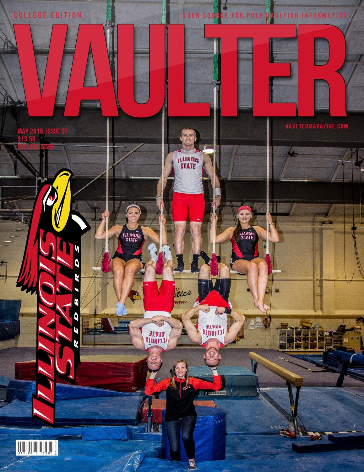 "12"" x 18"" 2015 Illinois State University Cover Poster of VAULTER"