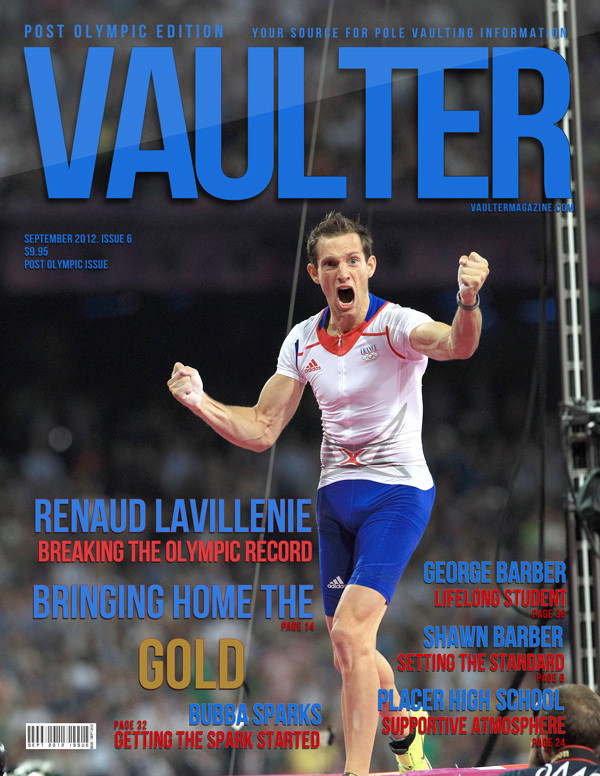 "12"" x 18"" Poster of  Renaud Lavillenie Olympic Cover of VAULTER"