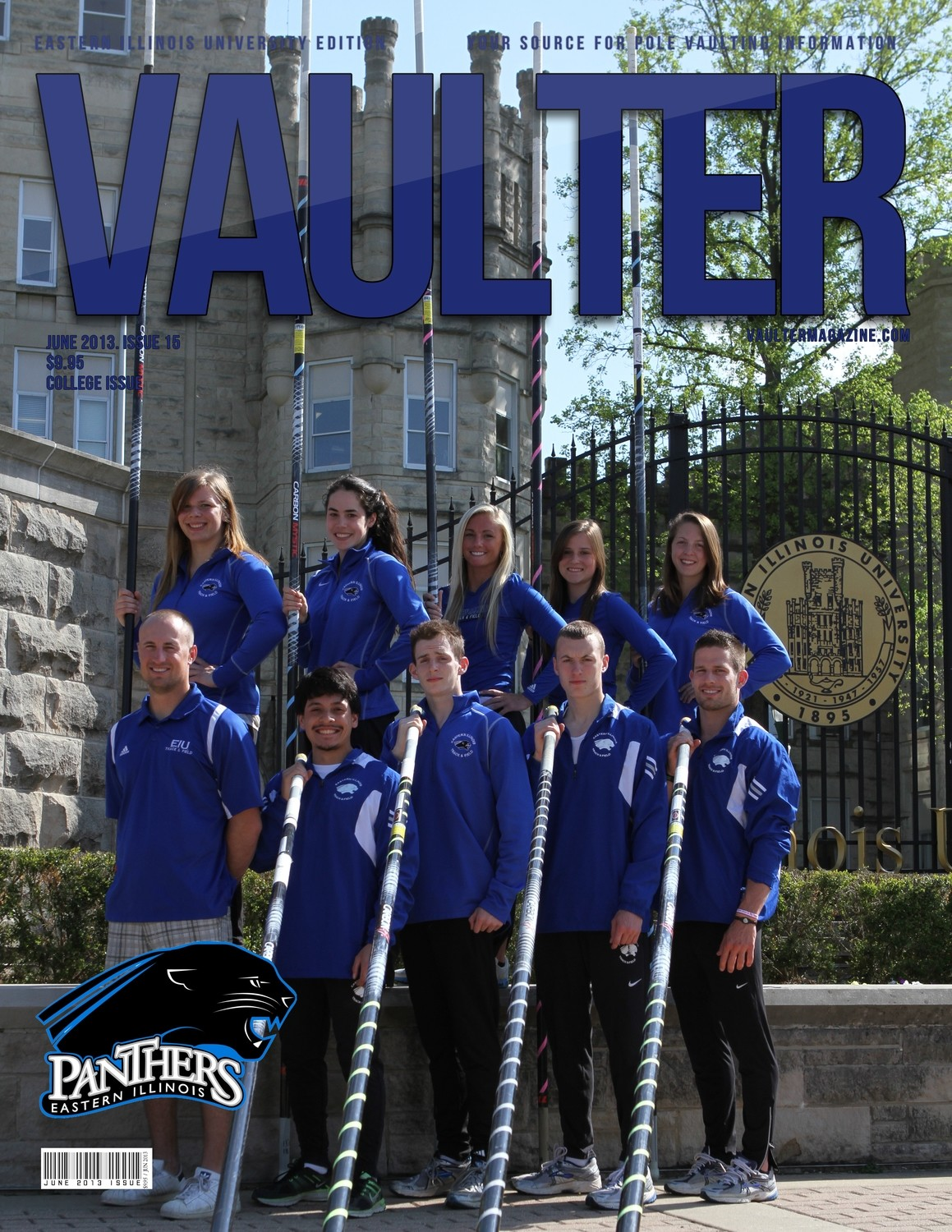 "12"" x 18"" Poster of Easter Illinois University Cover of VAULTER"