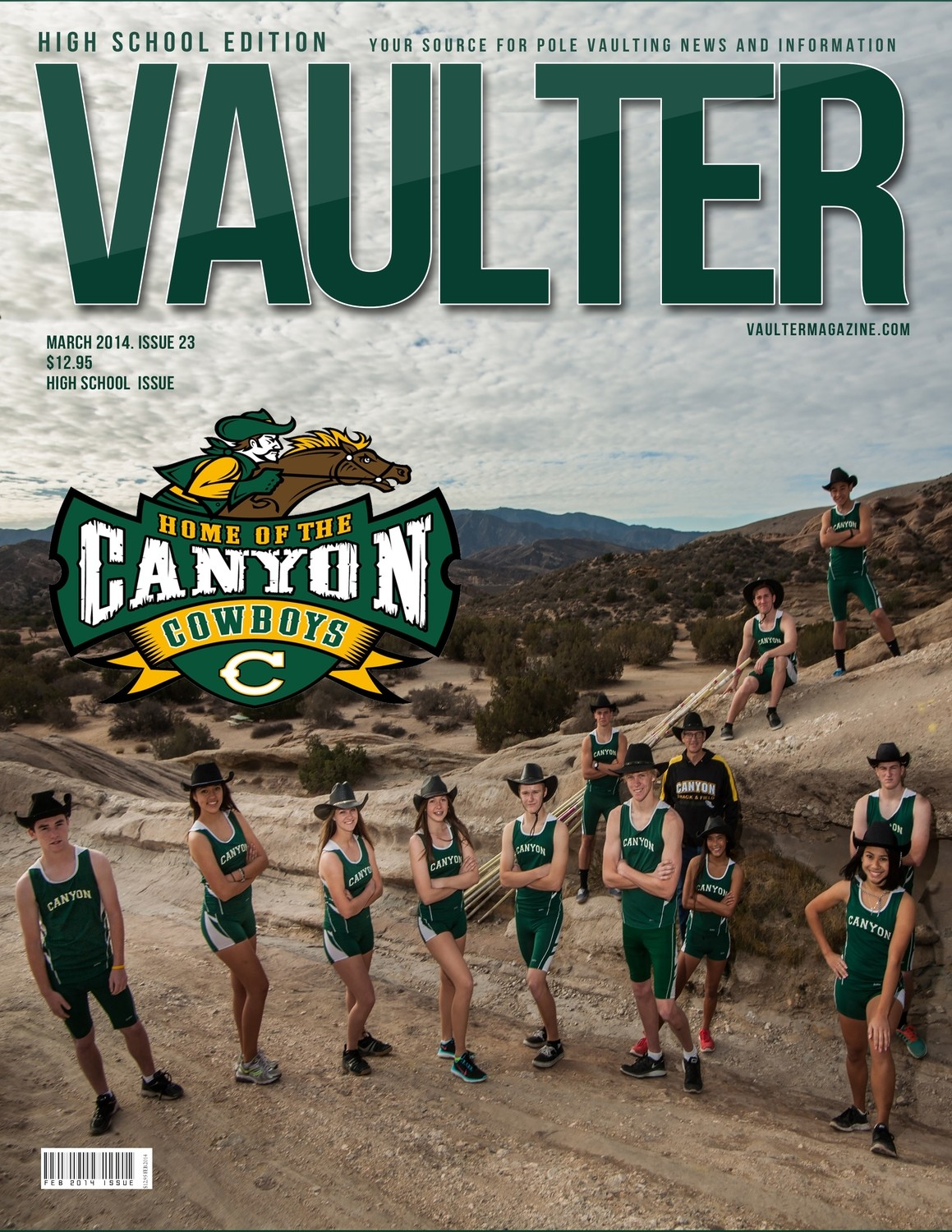 "12"" x 18"" Poster of the Canyon High School Cover of VAULTER"