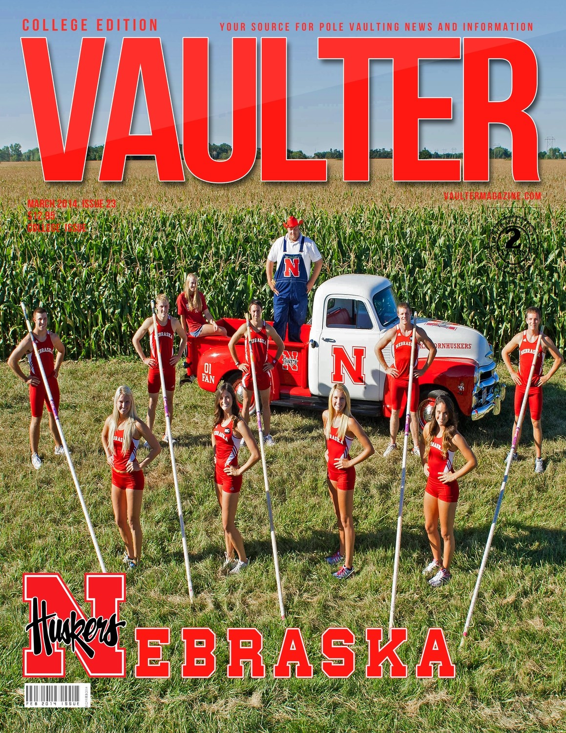 "12"" x 18"" Poster of the University of Nebraska Cover of VAULTER"