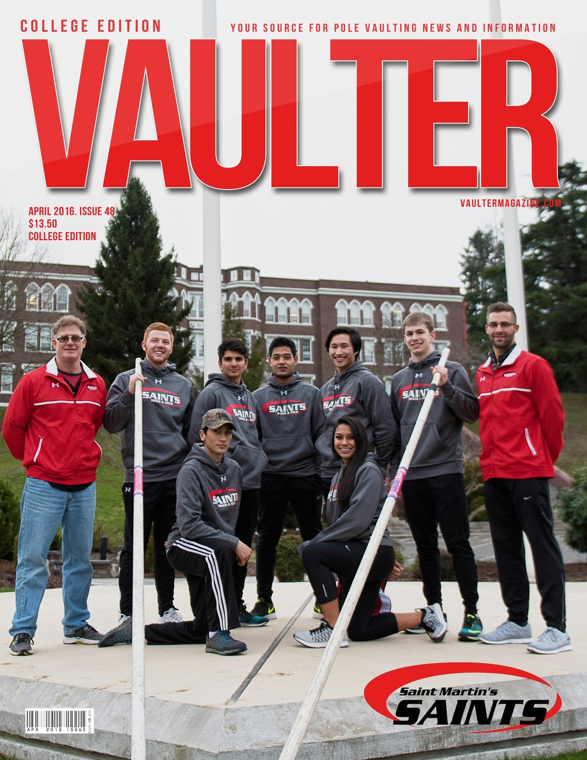 "12"" x 18"" St. Martins Vaulter Magazine Cover April 2016"