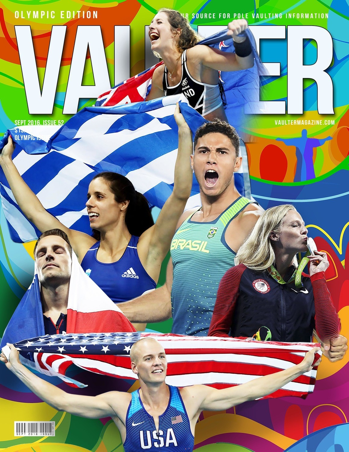 Olympic Medalist Cover of Vaulter Magazine USPS Only