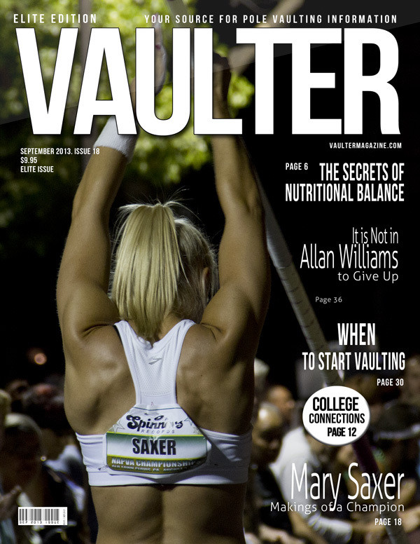 "September 2013 Issue of VAULTER Magazine USPS First Class ""ONLY"""