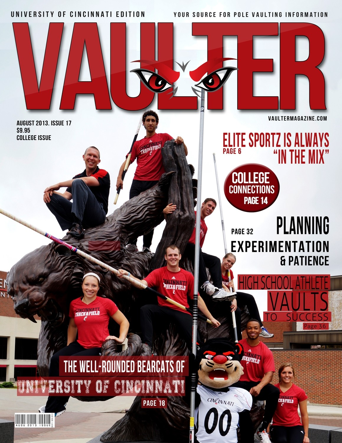 """August 2013 Issue of VAULTER Magazine USPS First Class """"ONLY"""""""