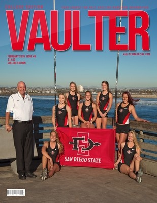 February 2016 San Diego State University Issue of VAULTER Magazine USPS First Class