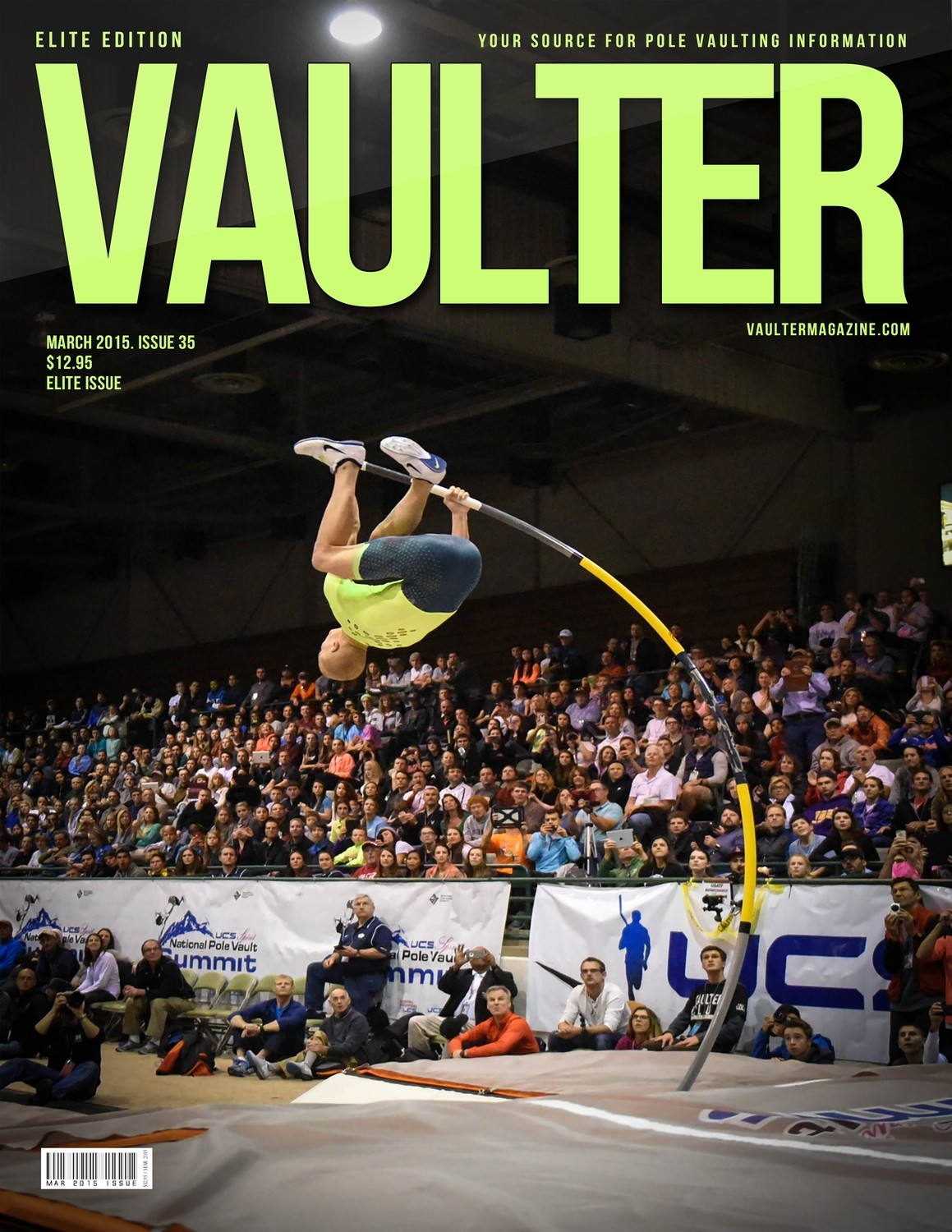 "March 2015 Sam Kendricks Elite Issue of VAULTER Magazine USPS First Class ""ONLY"""
