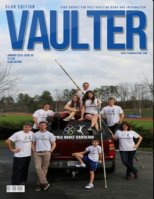 January 2016 Pole Vault Carolina Issue of VAULTER Magazine USPS First Class