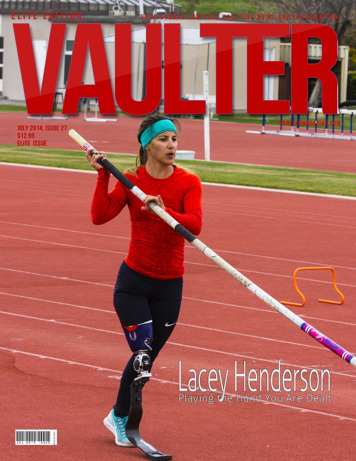 "July 2014 Lacey Henderson Elite Issue of VAULTER Magazine USPS First Class ""ONLY"""
