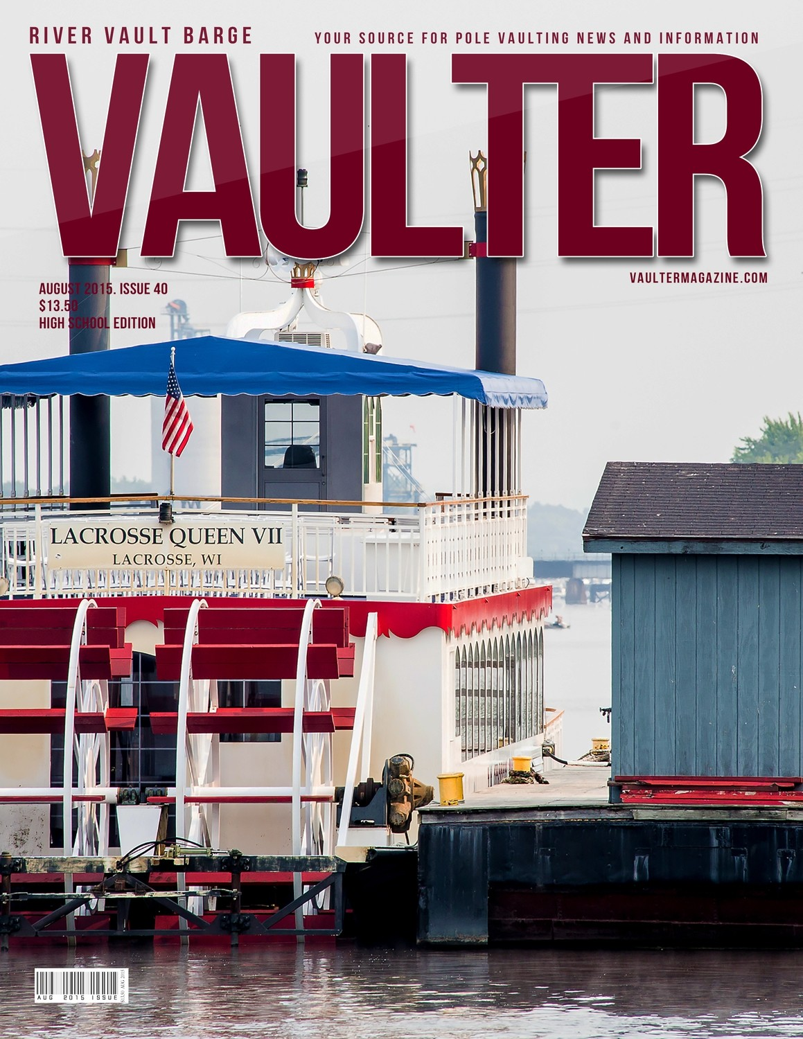"""August 2015 River Vault Issue of VAULTER Magazine USPS First Class """"ONLY"""""""