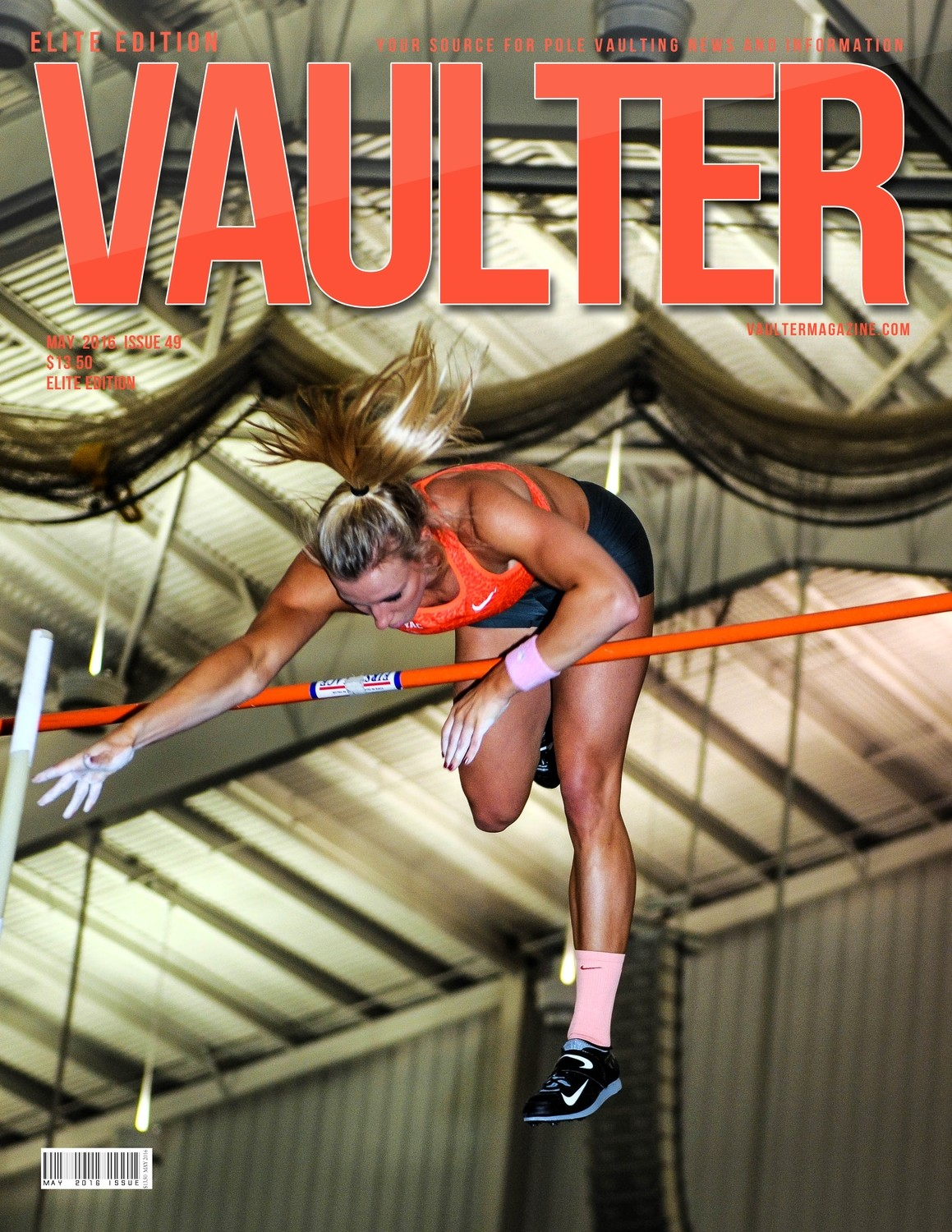 "Mary Saxer Vaulter Magazine May 2016 USPS First Class ""ONLY"""