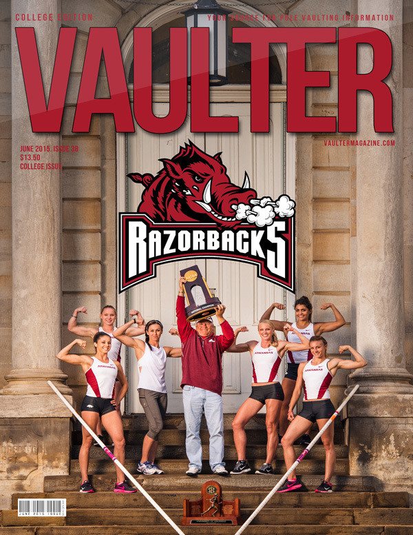 "June 2015 University of Arkansas Issue of VAULTER Magazine USPS First Class ""ONLY"""