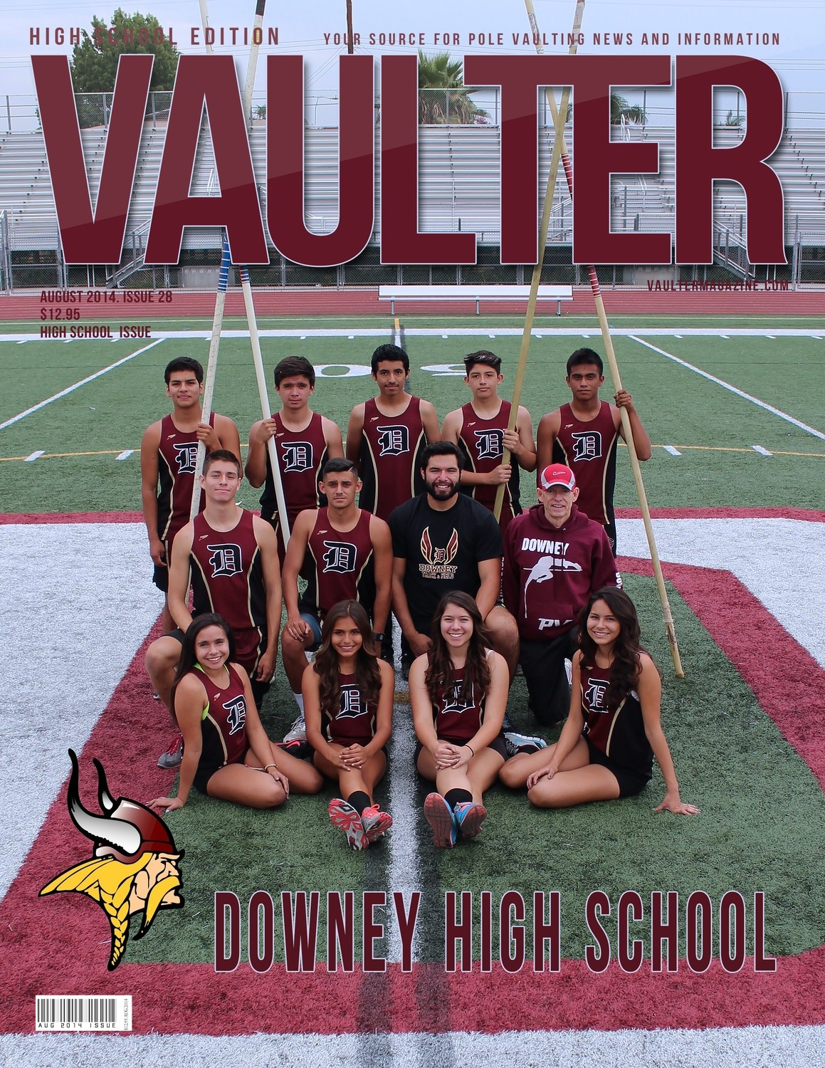 """August 2014 Downey High School Edition Issue of VAULTER Magazine USPS First Class """"ONLY"""""""