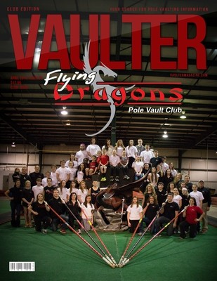 April 2015 Flying Dragons Pole Vault Club Issue of VAULTER Magazine USPS First Class