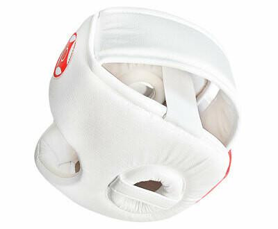 Шлем для каратэ с защитой верха головы N2 (натуральная кожа)