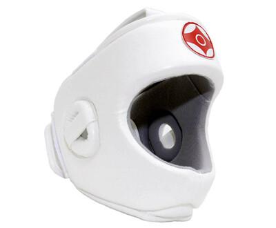 Шлем для каратэ Expert с защитой верха головы (натуральная кожа)