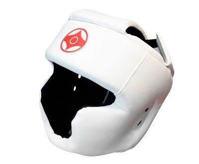 Шлем для каратэ с закрытым подбородком и верхом головы (кожзаменитель)