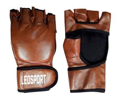 Перчатки MMA с открытыми ладонями (натуральная кожа)