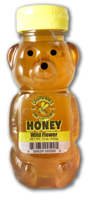 12 oz Raw Honey (Plastic Bear)