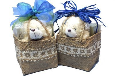 Baskets gifts hampers wellington occasions gluten free diabetic baby boy olive teddy in flax negle Images