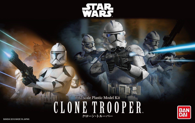 **PRE ORDER** Bandai Star Wars Clone Trooper 1:12 Scale Model Kit