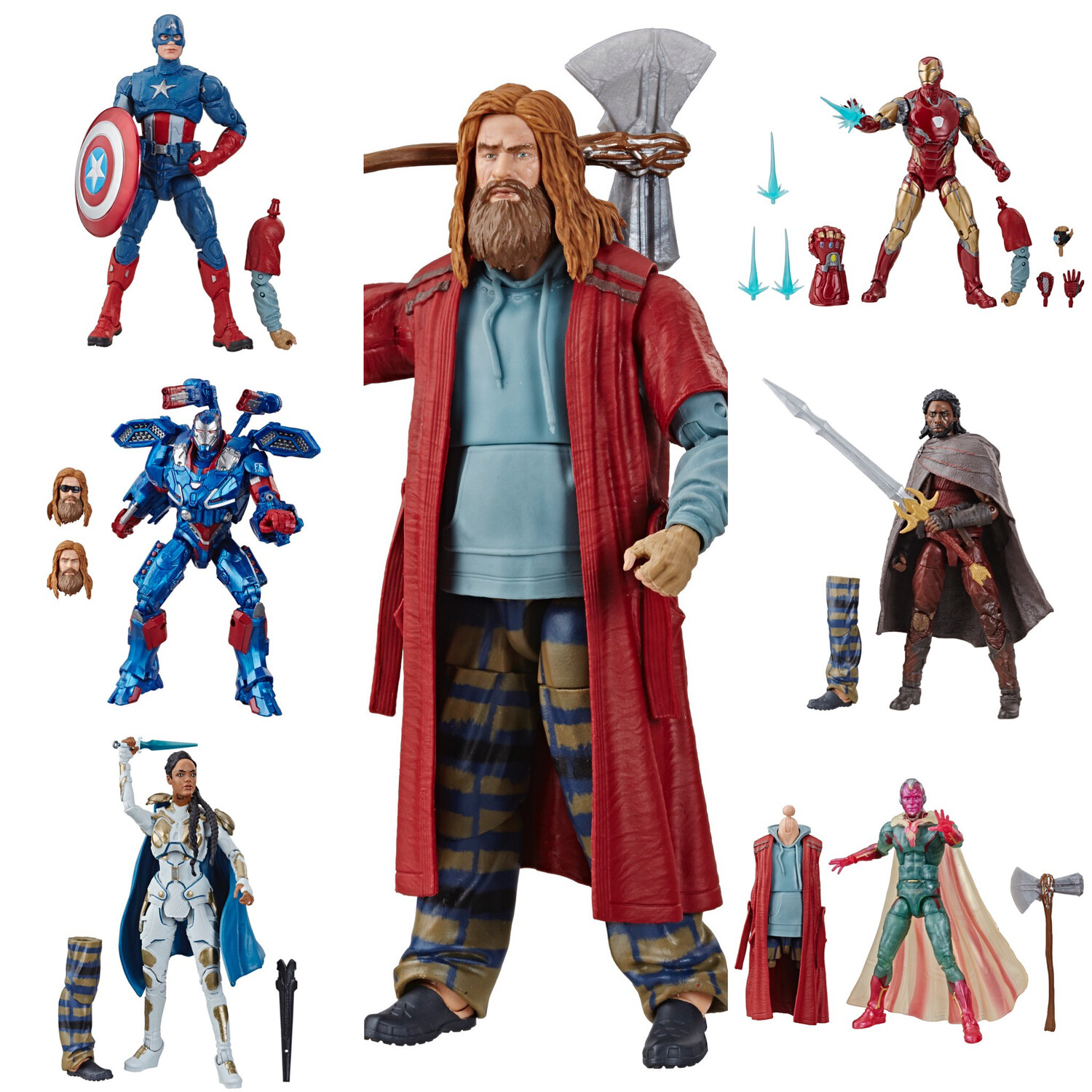 Endgame Marvel Legends Wave 3 Set of 6 Figures Avengers preorder Thor BAF
