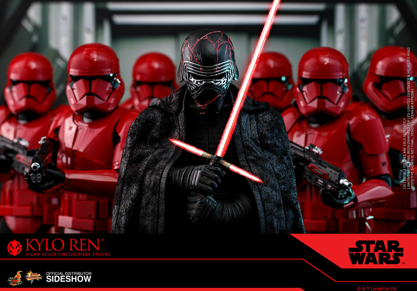 PRE ORDER** Hot Toys Supreme Leader Kylo Ren (Star Wars: The Rise ...