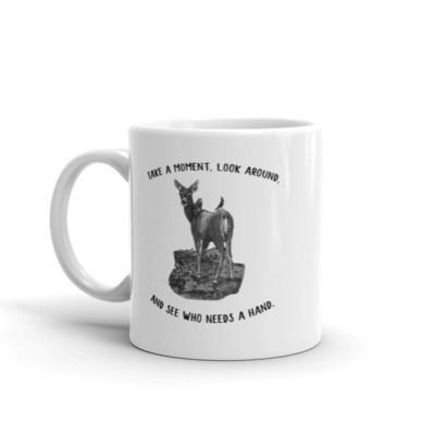 Moose Beach See Who Needs a Hand Mug