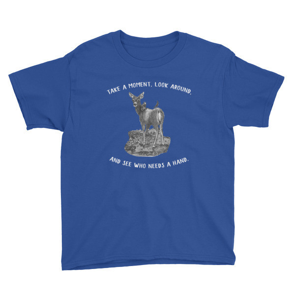 Moose Beach Lend a Hand Youth Short Sleeve T-Shirt