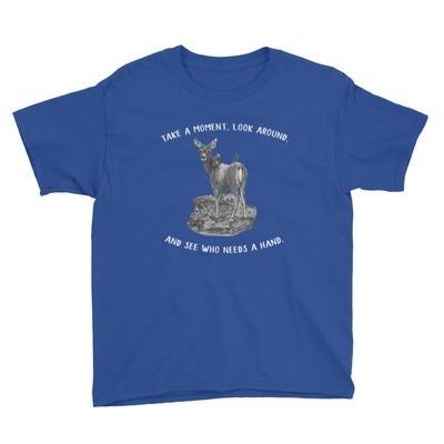 Moose Beach Lend a Hand Youth Short Sleeve T-Shirt
