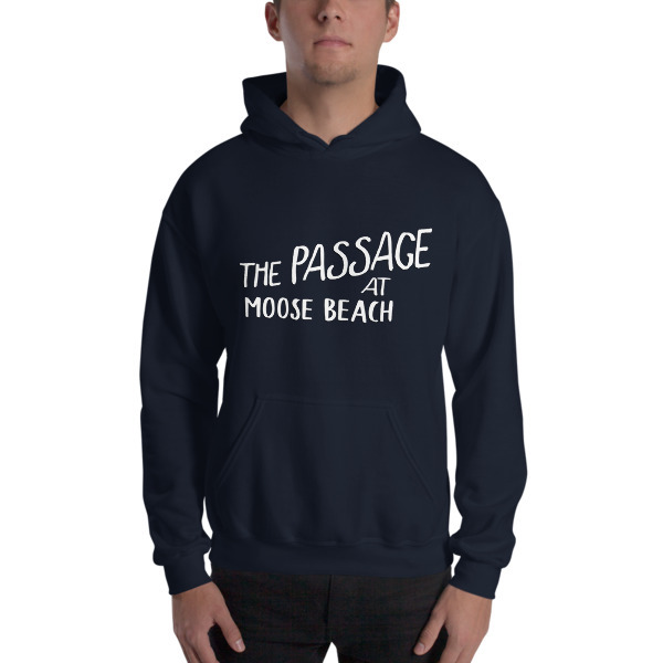 Moose Beach Logo Hooded Sweatshirt 00048