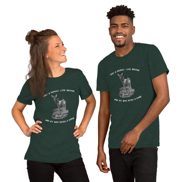Moose Beach See Who Needs a Hand Short-Sleeve Unisex T-Shirt 00049