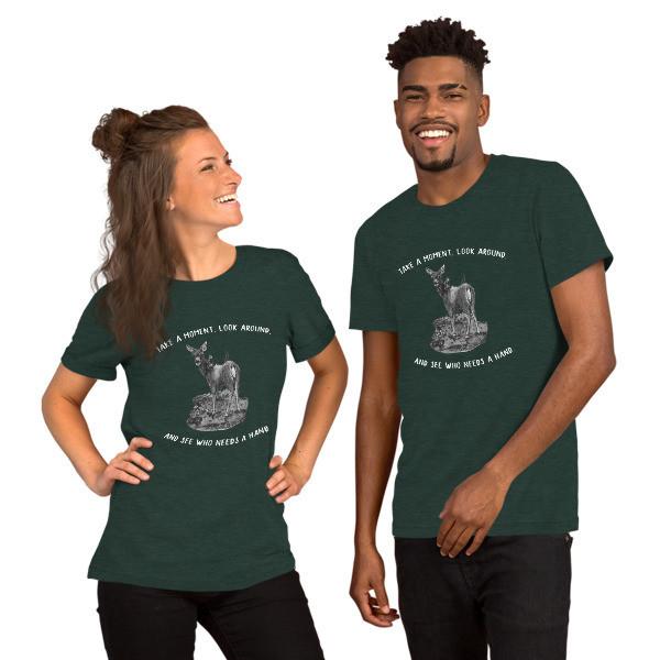 Moose Beach See Who Needs a Hand Short-Sleeve Unisex T-Shirt