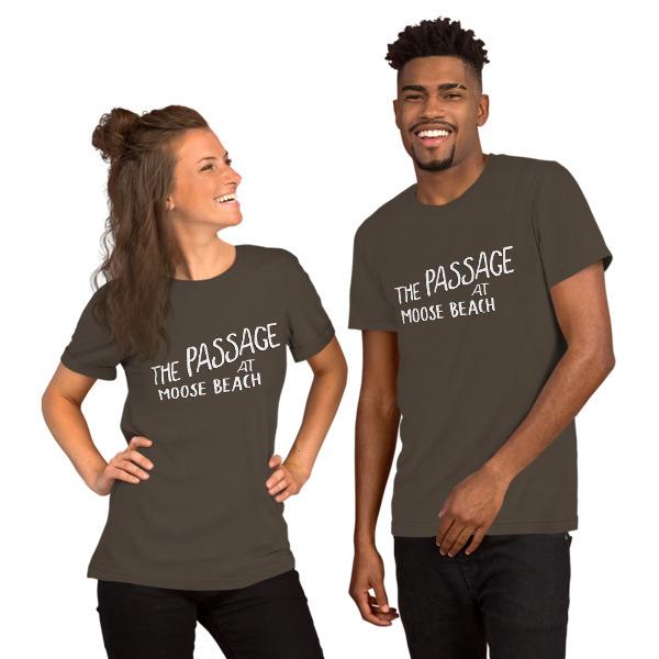 Moose Beach Logo Unisex Short Sleeve T-Shirt