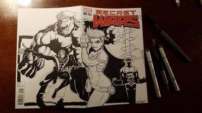 Custom Cover Art  | Secret Wars #1
