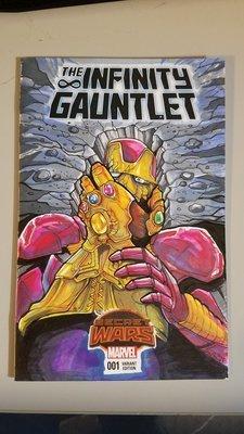 CUSTOM COVER - INFINITY GAUNTLET #1 Marvel Secret Wars