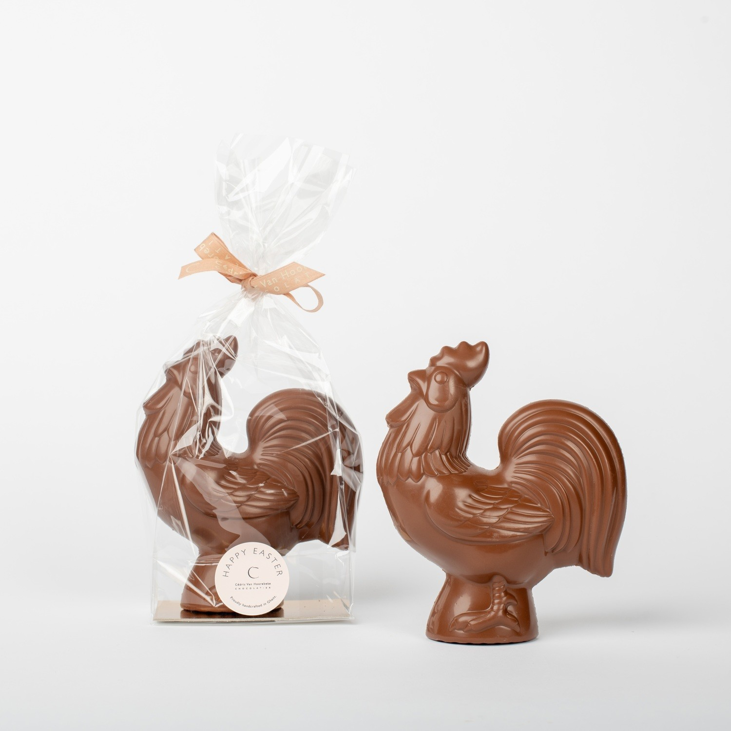 Rooster - classic milk chocolate 33%   H 17 cm.