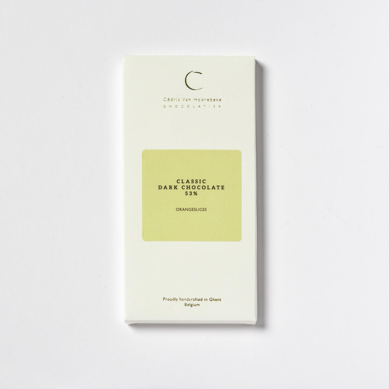 Orangeslices & Classic dark chocolate 53%