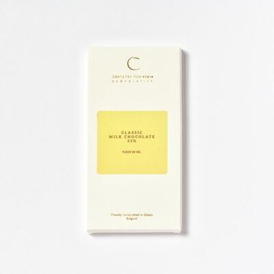 Fleur de sel & Classic milk chocolate 33%