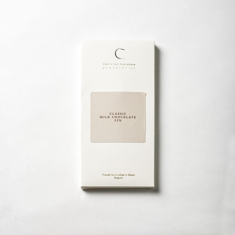Classic milk chocolate 33% - 100Gr.