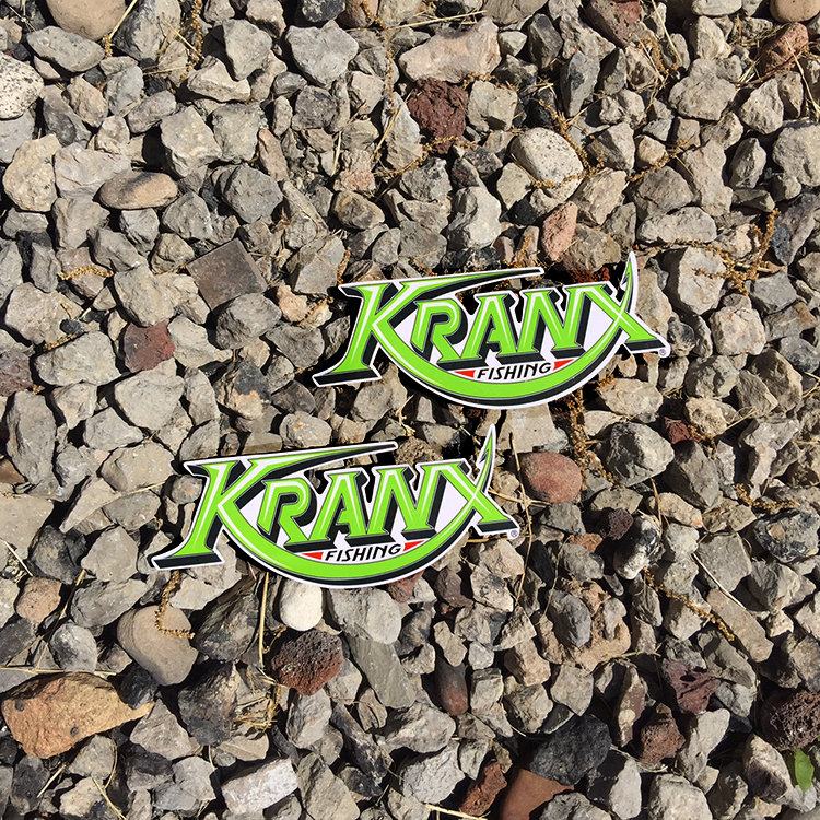 LARGE Kranx Fishing UV Protected Vinyl Stickers