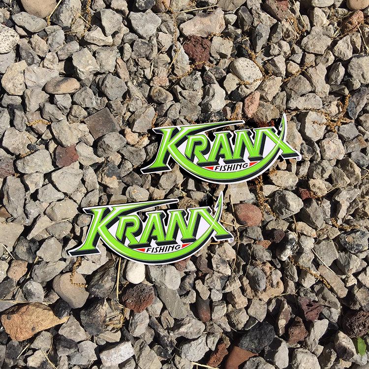 Small Kranx Fishing UV Protected Vinyl Stickers 00106