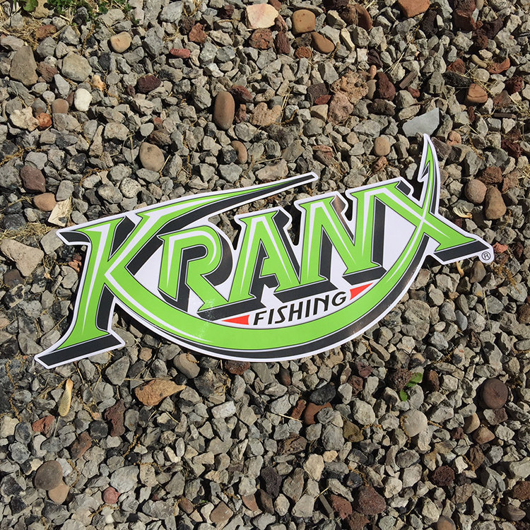 LARGE Kranx Fishing UV Protected Vinyl Stickers 00137
