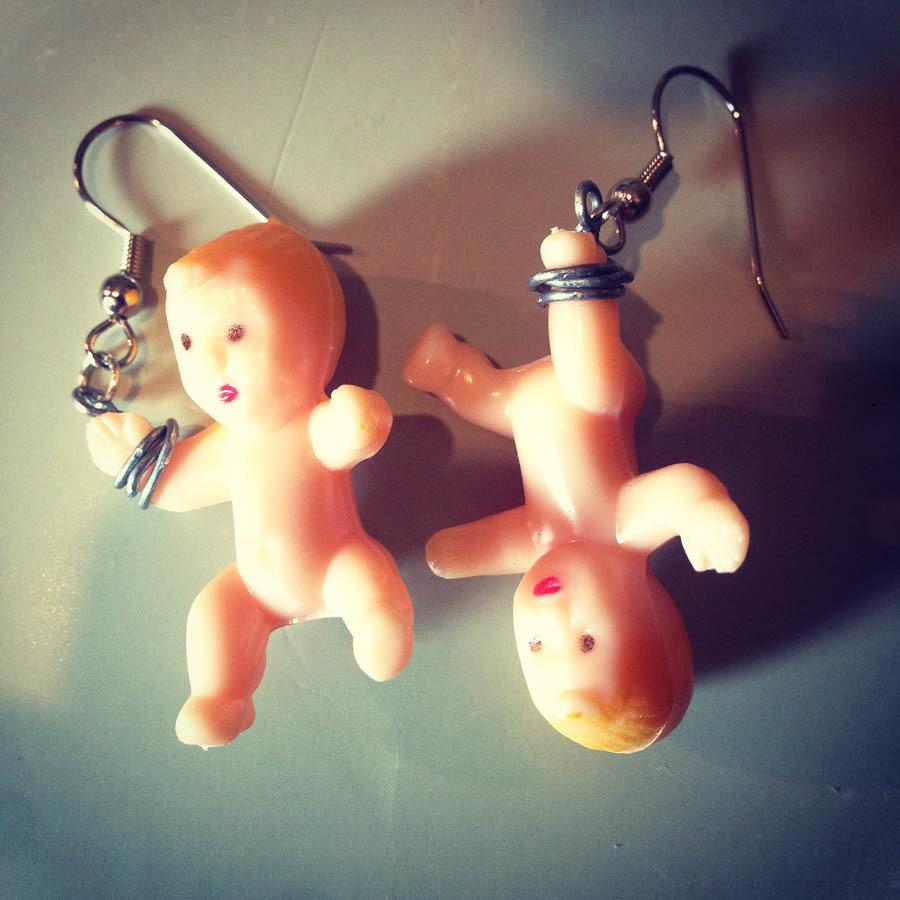 Dangling Baby Earrings BABIES-EAR-F-B-S