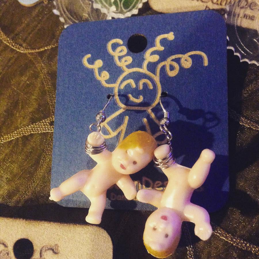 Dangling Baby Earrings